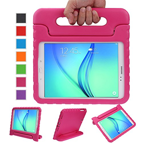 NEWSTYLE Samsung Galaxy Tab A 8.0 Shockproof Case Light Weight Kids Case Super Protection Cover Handle Stand Case for Kids Children For Samsung Galaxy Tab A 8.0-inch SM-T350 - Rose Color