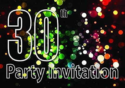 Amazon.com: 10 x 30 Tema invitaciones para fiesta de ...