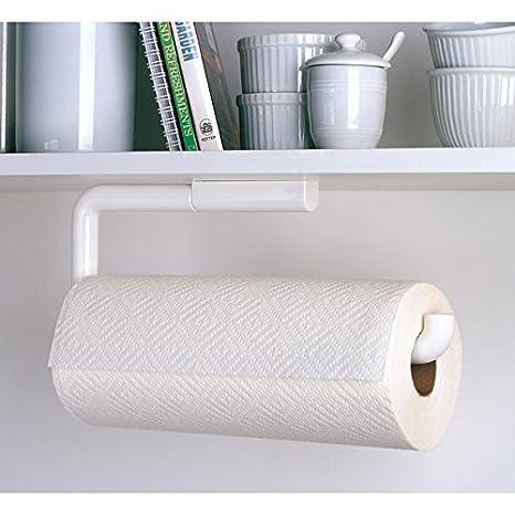 Halter für Papierrollen in Küche oder Bad MetroDecor mDesign Küchenrollenhalter Wand Material: Plastik Farbe: Schwarz an der Wand zu befestigen