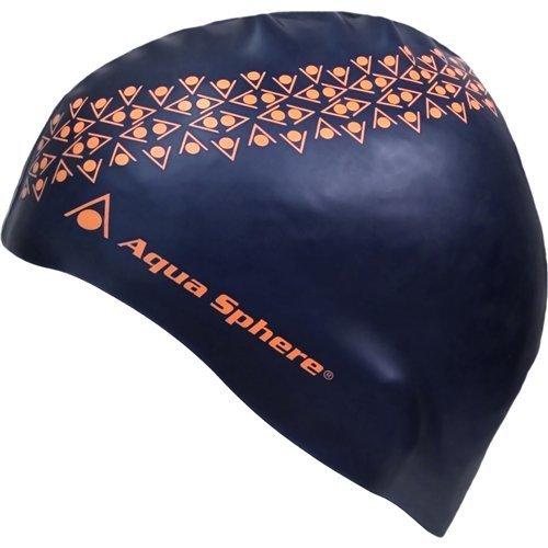 (Aqua Sphere Junior Maddox Swim Cap, Blue/Orange)