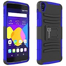 "Alcatel OneTouch Idol 3 (5.5"") Case, CoverON® [Explorer Series] Tough Hybrid Armor Belt Clip Hard Phone Cover For Alcatel OneTouch Idol 3 (5.5"") Holster Case - Blue & Black"