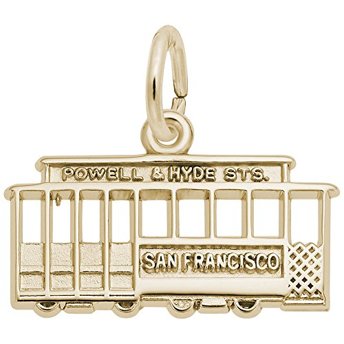 Rembrandt Charms, Cable Car, San Francisco, 22k Yellow Gold Plated Silver ()