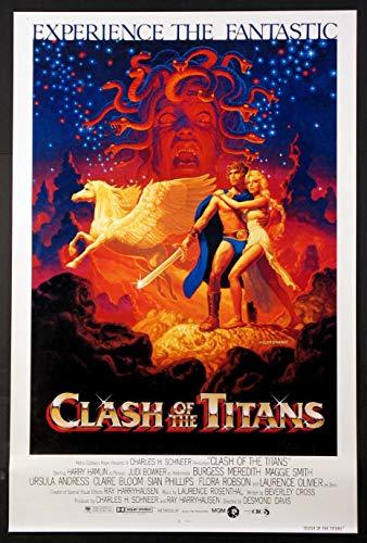 CLASH OF THE TITANS HARRYHAUSEN SCI-FI HILDEBRANDT ART 1981 ORIGINAL 27X41 ONE SHEET MOVIE POSTER ROLLED