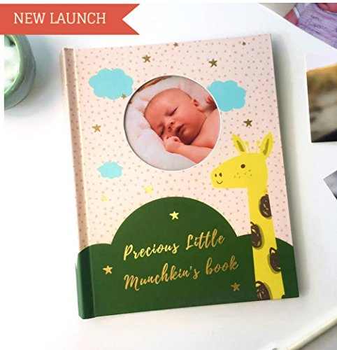 Baby Memory Book for Boy or Girl - Modern Unisex Baby Journal - Perfect Baby Shower Gift for New Parents -Baby Milestone Book- First 5 Year Memory Book - Scrapbook - Picture Album ()