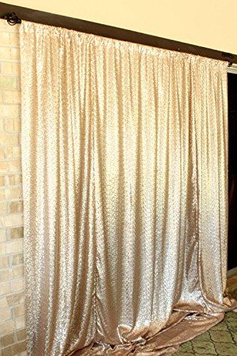 - ShinyBeauty 8FTx10FT-Matt Gold-Sequin Backdrop Curtain Wedding Photography Sequin Photo Background
