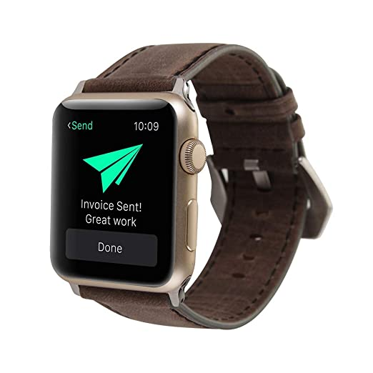 Arelead -Correas para Apple Watch 42mm-Cuero- Retro Reloj De Repuesto para Apple Watch 42mm: Amazon.es: Relojes