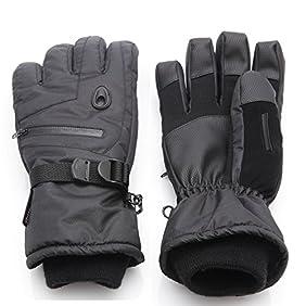 Men Waterproof Thinsulate Ski Snowboard Gloves Winter Warm Gloves Black
