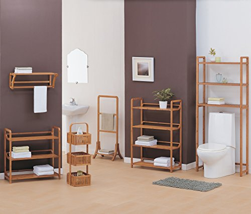 Organize It All Natural Bamboo Wall Mounting Shelf with Towel Bars by Organize It All (Image #3)