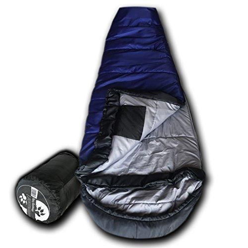 Wolftraders KidMummy +0 Degree Premium Lightweight Youth Mummy Sleeping Bag with Xfil