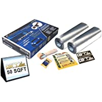 "GTMAT 50 sqft Automotive Sound Deadener 80mil ULTRA – Noise Killer Installation Kit Includes: 50ft Roll (16"" X 19'), Instruction Sheet, Application Roller, Degreaser, GT MAT Decals"