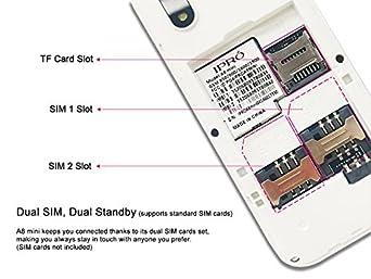 Amazon.com: IPRO A8 Mini i3186 2G GSM Unlocked Dual-SIM Cell Phone on