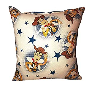 Woody Pillow Toy Story 4 Pillow All Our Pillows Are Handmade Hypoallergenic Cotton with Flannel Backing Ideal for Gift and Multiple Uses