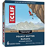 Clif Bar Peanut Butter Banana Dark Chocolate Energy Bar, 6 Count