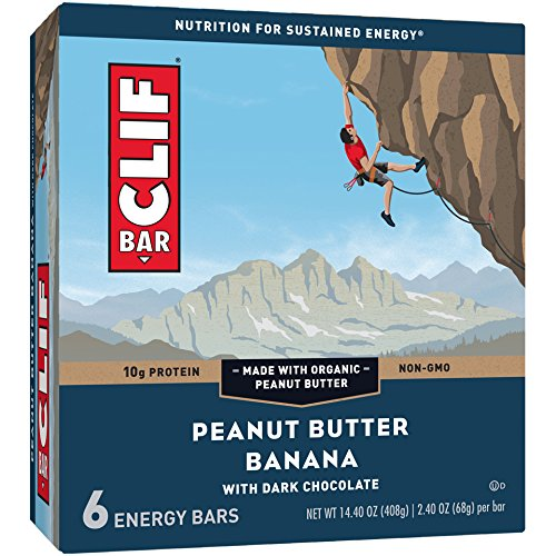 Clif Bar Peanut Butter Banana Dark Chocolate Energy Bar, 6 Count ()