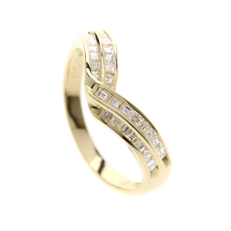 [セレクトジュエリー]メレダイヤモンド リング指輪 K18イエローゴールド レディース (中古) B07DR8Z78L