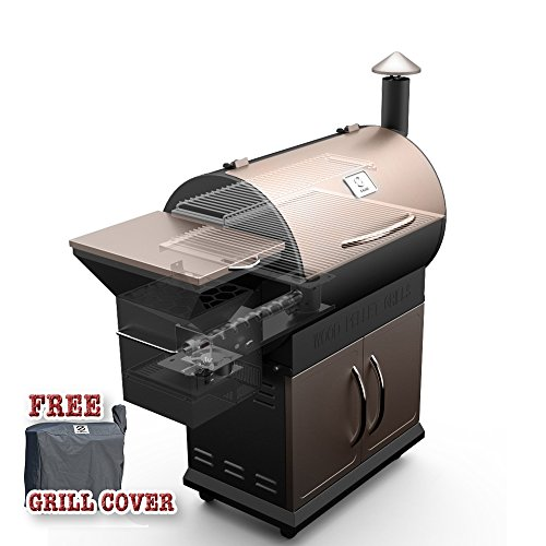 Cheap Z Grills ZPG-700D Wood Pellet Grill & Smoker 8 in 1 Bbq Auto Temperature Control, 700 sq inch Cooking Area, Bronze And Black