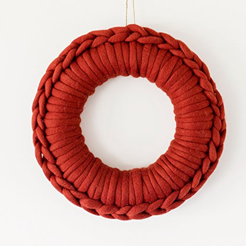 Yarn Wreath (DIY Christmas Wreath Frame Template for Chunky Merino Wool by Plump & Co (13.7 inch) Create Your Own Unique Xmas Decor, Decoration Making Kit)