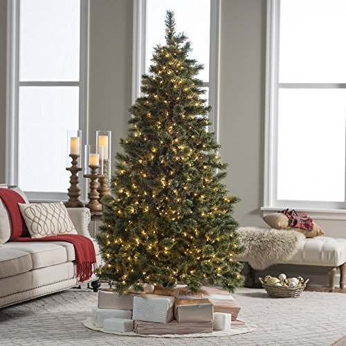 7 ft. Pre-lit Hard Needle Deluxe Cashmere Pine Christmas Tre