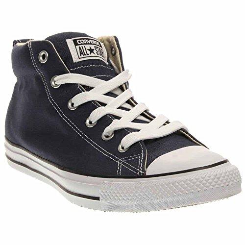CONVERSE Unisex Chuck Taylor Street Mid Fashion Sneaker Shoe - Navy Natural - Mens - 9 -