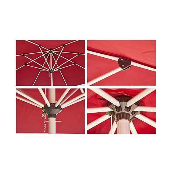MENG Ombrellone in Alluminio 2.5 M Ombrellone Esterno Protezione UV Ombrellone Rotondo per Ombrellone da Spiaggia… 3 spesavip
