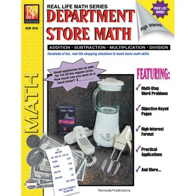 Remedia Publications REM161A Department Store Math, Game Book, 8.2