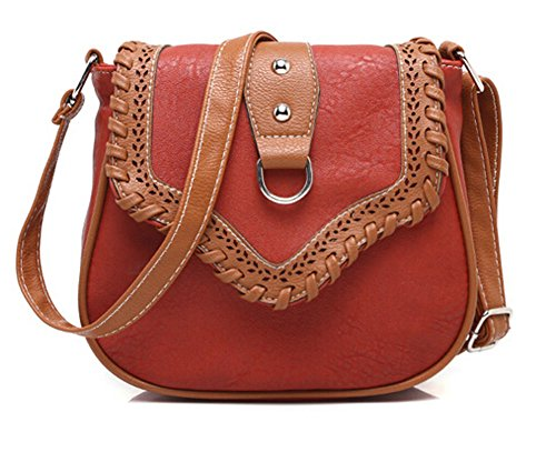 S-BBG Girls Weave PU Leather Cross Body Bags Ladies Shoulder Bag Hobo Mini