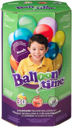 Standard Helium Balloon Kit [3 Pieces] - Product Description - Standard Helium Balloon Kit . Includes (1) Helium Tank (8.9 Cubic Ft.), (30) Assorted 9