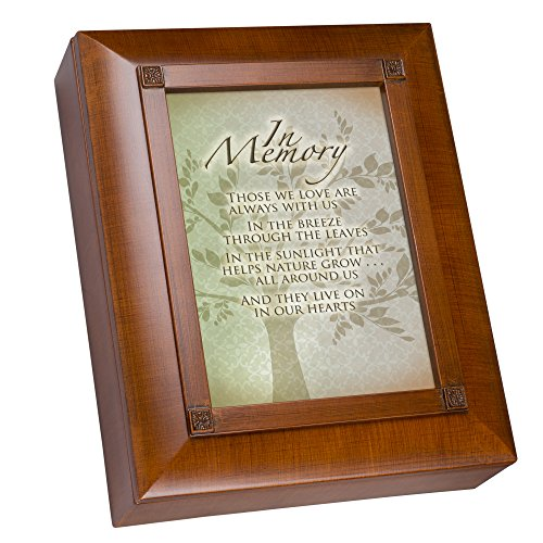 Cottage Garden in Memory Family Tree Woodgrain Remembrance Keepsake Box