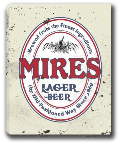 MIRES Lager Beer Stretched Canvas Sign 16 x 20