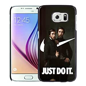 Beautiful Unique Designed Samsung Galaxy S6 Phone Case With NIKE Just Do It Hippolyte Flandrin Painting SwooshArt_Black Phone Case