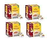 Gevalia Cappuccino Espresso Coffee K-Cup?? Pods & Froth Packets 9 Count Box (Pack of 4)