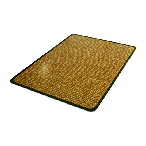 (Deflecto DuraMat Decorative Chair Mat, Low Pile Carpet Use, Rectangle, Straight Edge, 36 x 48 Inches, Band Sisal Print (CM13142CBS))