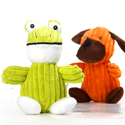 Dog Frog Plush (Dog Squeaky Toys,Pet Dog Chew Toys Plush Toys with Squeaker,Perfect for Small Dogs and Puppy,Frog)