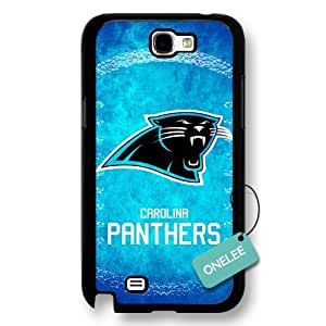 diy case - NFL Team Logo Samsung Galaxy Note2 case - Custom Personalized Carolina Panthers Hard Plastic Samsung N2 Cover - Black01