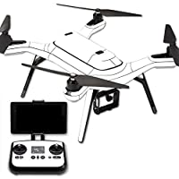 MightySkins Protective Vinyl Skin Decal for 3DR Solo Drone Quadcopter wrap cover sticker skins Solid White