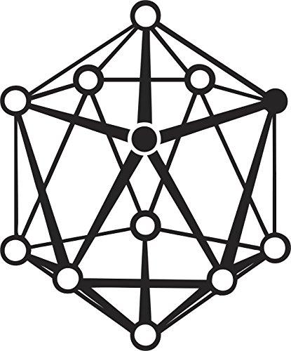 Pretty Geometric Pentagon Cube Cartoon Icon Vinyl Decal Sticker (4