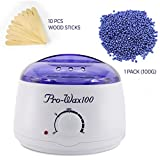 Wax Warmer, Hair Removal Waxing Kit Electric Hot Wax Heater for Facial...