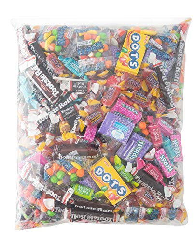 Assorted Bulk Candy, Individually Wrapped: 6 LB Bag Variety Pack with Tootsie Rolls, Tootsie Pops, Jolly Ranchers, Nerds, Runts & More! Great for Holiday and Party Treats (Custom Chocolate Wrapped)
