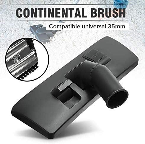 1 Unids 35mm Alfombra Herramienta de Piso Cepillo Accesorio Cabeza Giratoria Durable Calidad Metal Plástico Negro Cepillo Aspirador Universal: Amazon.es: Hogar