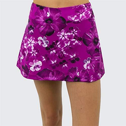 - Jerdog Hidden Charms Back Pleat Skirt - Berry Print - Small