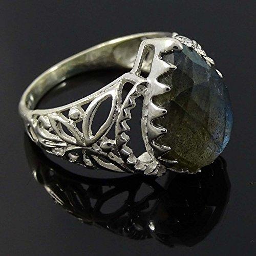 Banithani Bague labradorite en pierre marqué 925 mode en argent cadeau de bijoux pour elle