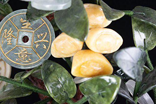 Vintage Chinese Carved Jade & Semi Precious Stone Shohin Bonsai Tree # 104 by Calibonsai (Image #6)