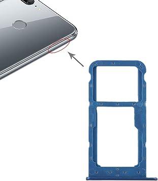 CHENYOUWEN Piezas de Repuesto para los teléfonos móviles Cambiar la Tarjeta SIM Bandeja de Tarjeta + Tarjeta SIM Bandeja/Micro SD for Huawei Honor 9 Lite (Negro) (Color : Blue): Amazon.es: Electrónica