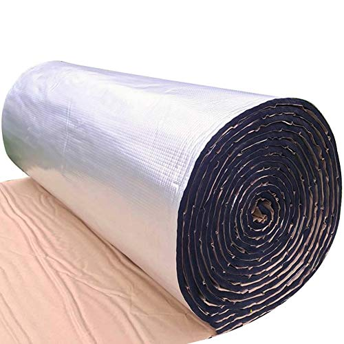 CEEYEERA Sound Insulation Foam Car Four Door Acoustic Barrier Foam 39x19inch Heat Insulation Shield Mat Aluminum Foil 0.39inch Thick