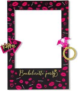 bride fuchsia personalized Photobooth bachelorette party