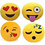 Frantic Soft, Sweet, Heart Eyes and Wink Smiley Cushion (35) - Pack of 4