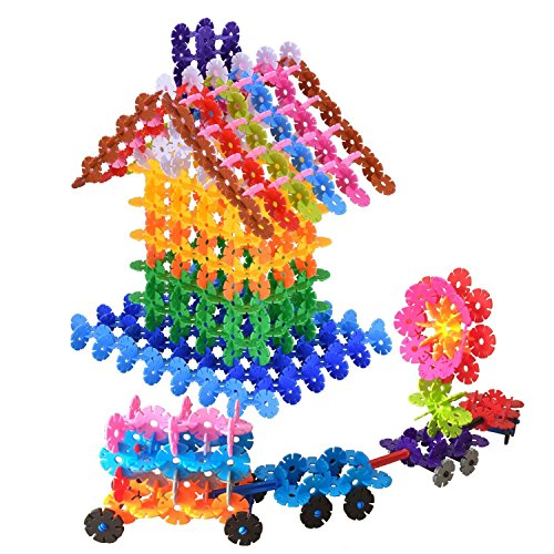 SUPRBIRD Snowflakes Gear Toys Flakes Building Block Educatio