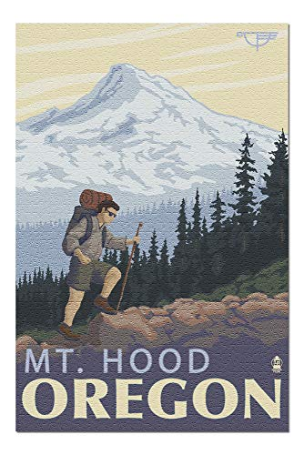 Mt. Hood, Oregon - Timberline Lodge Hiking (20x30 Premium 1000 Piece Jigsaw Puzzle, Made in USA!) (Best Hikes In Mount Hood National Forest)