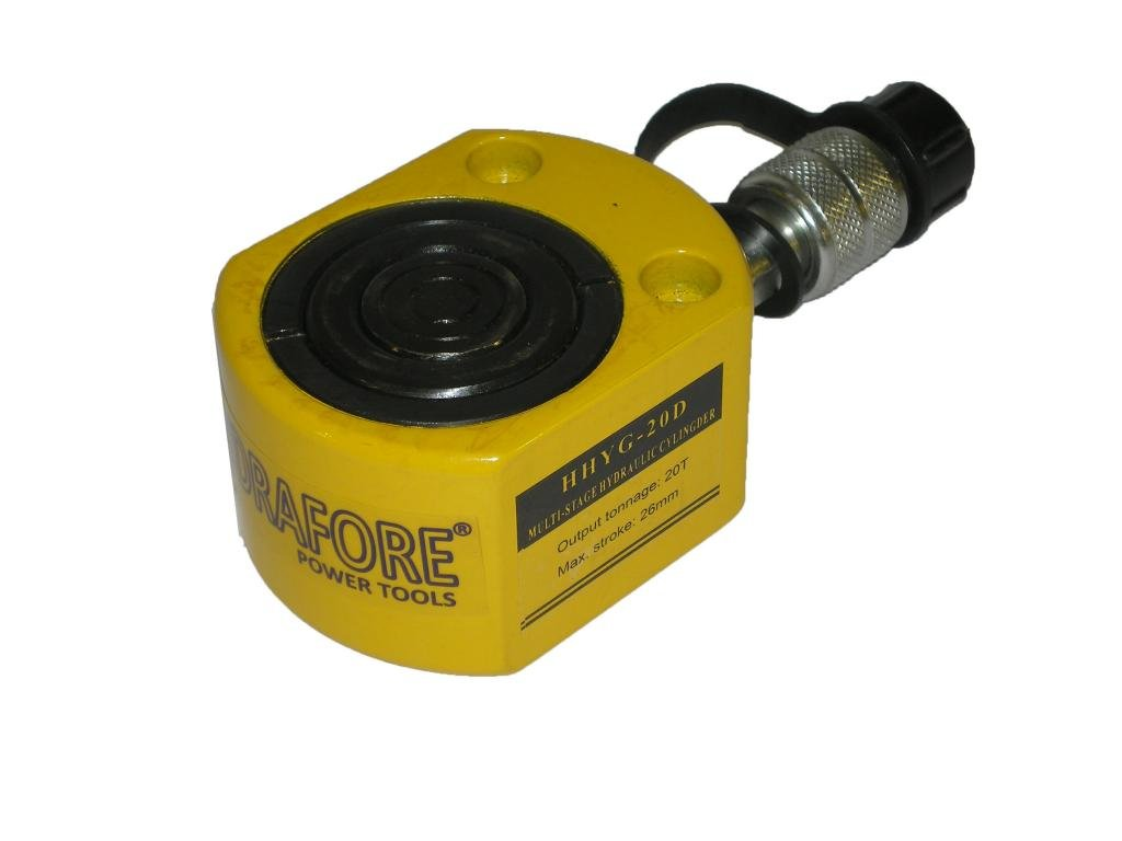 Hydrafore Multi Stage Hydraulic Cylinder (20 Ton, 26 mm) - YG-20D
