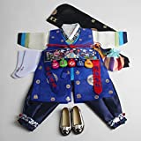 Korean hanbok boys baby's traditional ORIGINAL DOLBOK 1st birthday hb058/1